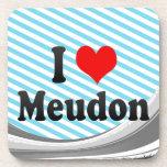 I Love Meudon, France Beverage Coaster