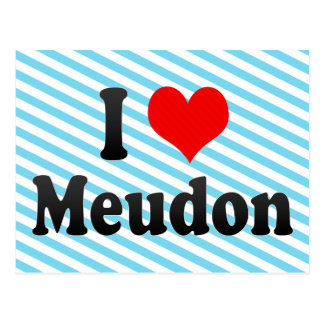 I Love Meudon, France Postcard