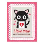 I Love Mew! by Origami Prints Valentine Postcard
