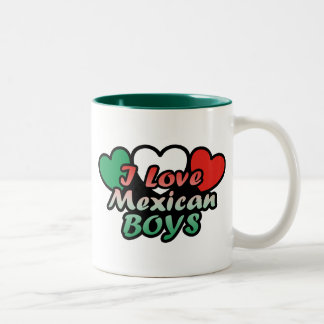 I Love Mexican Boys Two-Tone Coffee Mug