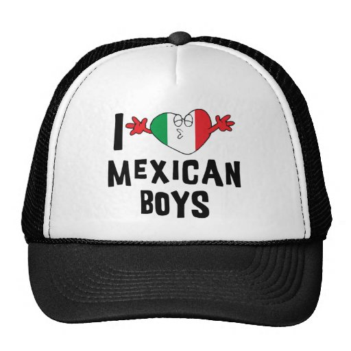 I Love Mexican Boys Woman's Hats