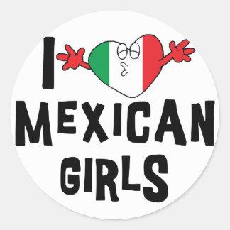 I Love Mexican Girls Classic Round Sticker