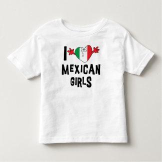 I Love Mexican Girls Kids Tshirt