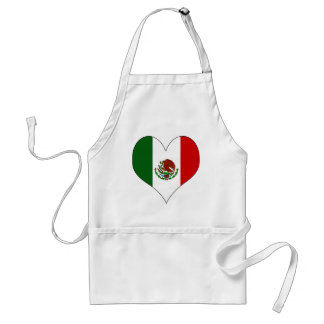 I Love Mexico Adult Apron