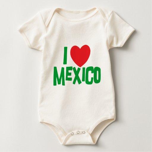 I Love Mexico Baby Creeper