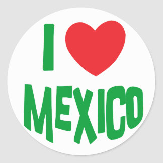 I Love Mexico Classic Round Sticker