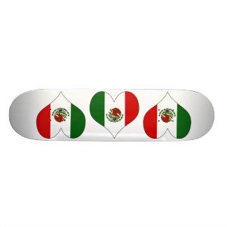 I Love Mexico Custom Skateboard