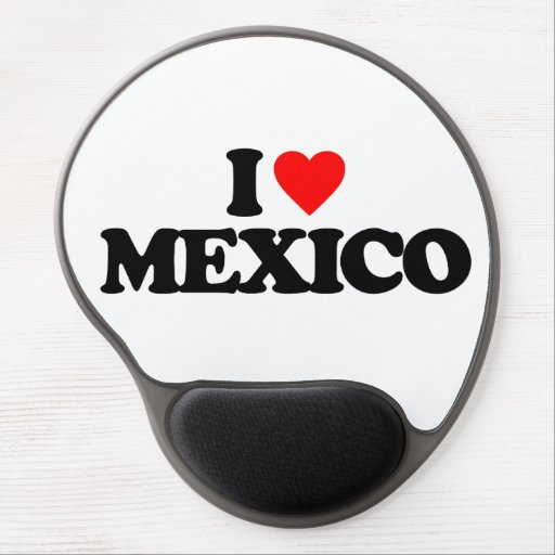 I LOVE MEXICO GEL MOUSE PADS