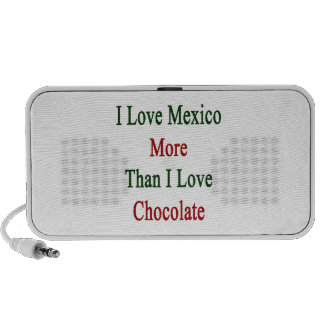 I Love Mexico More Than I Love Chocolate Travelling Speakers