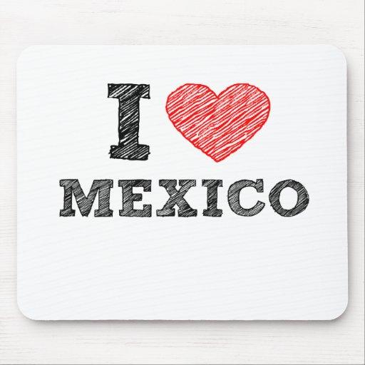 I Love Mexico Mouse Pad