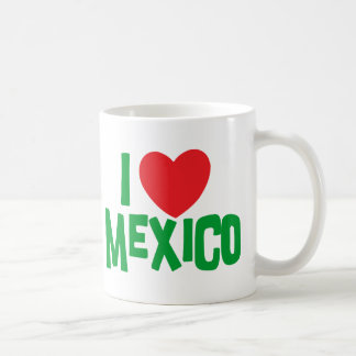 I Love Mexico Classic White Coffee Mug