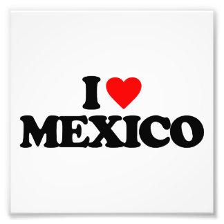I LOVE MEXICO ART PHOTO