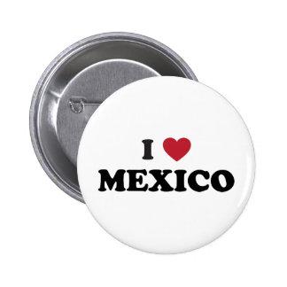 I Love Mexico Pinback Button