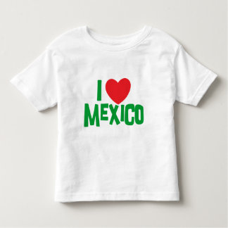 I Love Mexico Toddler Shirts