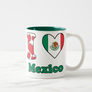 I love Mexico Two-Tone Coffee Mug