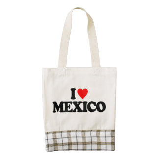 I LOVE MEXICO ZAZZLE HEART TOTE BAG