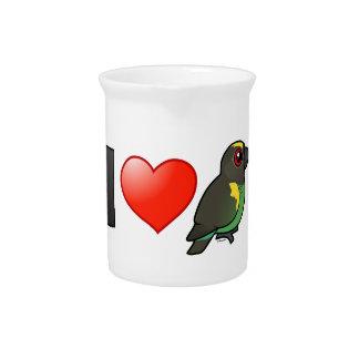 I Love Meyer's Parrots Beverage Pitchers