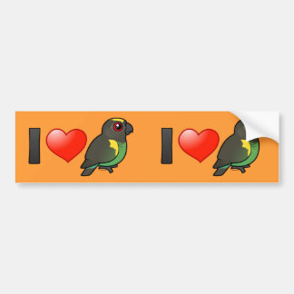 I Love Meyer's Parrots Bumper Sticker