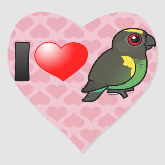 I Love Meyer's Parrots Heart Sticker