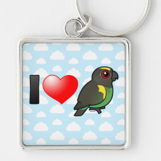 I Love Meyer's Parrots Keychain