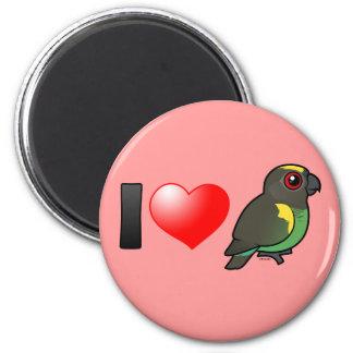I Love Meyer's Parrots 2 Inch Round Magnet