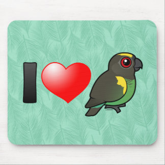 I Love Meyer's Parrots Mouse Pad