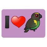 I Love Meyer's Parrots Rectangular Photo Magnet