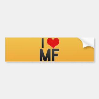 I Love MF Bumper Sticker
