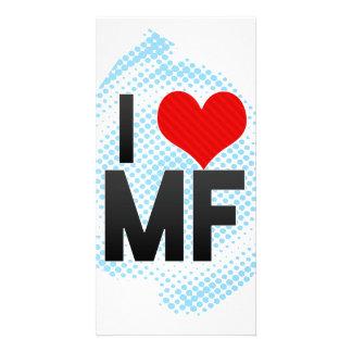 I Love MF Customized Photo Card