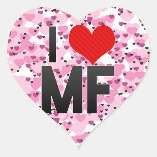 I Love MF Heart Sticker