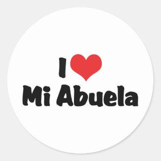 I Love Mi Abuela Classic Round Sticker