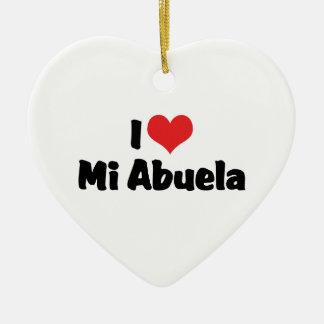 I Love Mi Abuela Ornament
