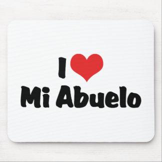 I Love Mi Abuelo Mouse Pad