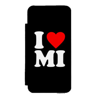 I LOVE MI iPhone SE/5/5s WALLET CASE
