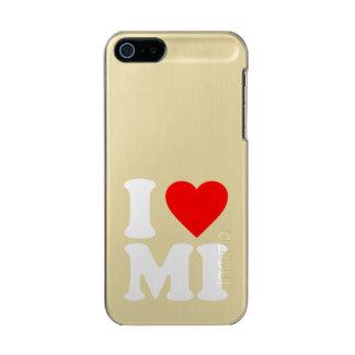I LOVE MI METALLIC iPhone SE/5/5s CASE
