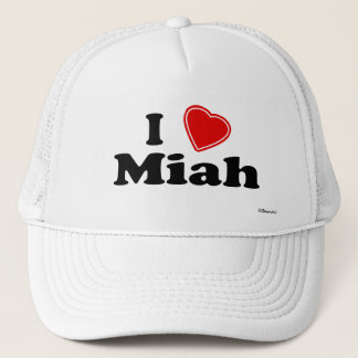 I Love Miah Trucker Hat