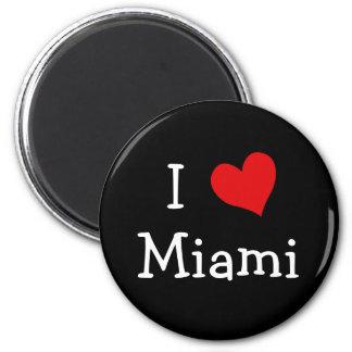 I Love Miami 2 Inch Round Magnet