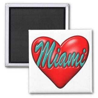 I love Miami 2 Inch Square Magnet