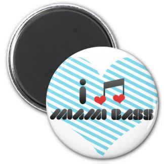 I Love Miami Bass Fridge Magnets