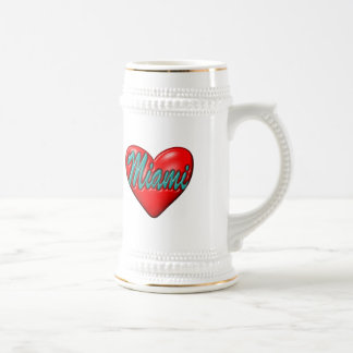 I love Miami Beer Stein