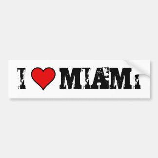 ~I Love Miami~ BUMPER STICKER Car Bumper Sticker