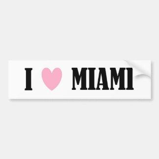 I Love Miami Bumper Sticker