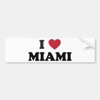 I Love Miami Florida Car Bumper Sticker