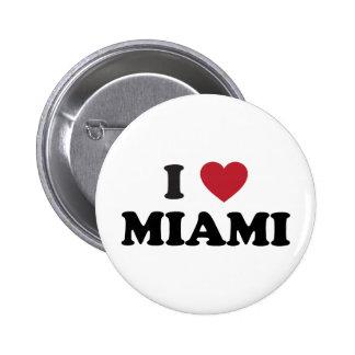 I Love Miami Florida 2 Inch Round Button