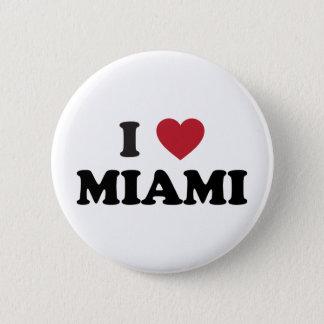 I Love Miami Florida Pinback Button