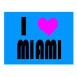 I Love Miami Florida postcard