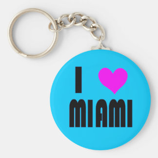 I Love Miami Florida USA keychain