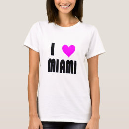 I Love Miami Florida USA  t-shirt