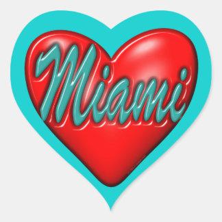 I love Miami Heart Sticker