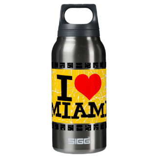I love Miami   - Insulated Water Bottle